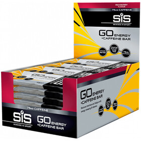 SiS GO Energy + Caffein Bar - Nutrición deportiva - Red Berry 30 x 40g